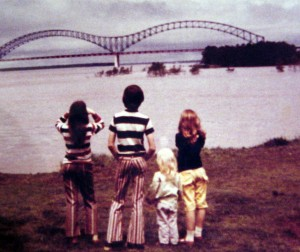 the sibs & me in Memphis history (I'm the only redhead)
