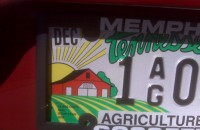 Tennessee agriculture license plate