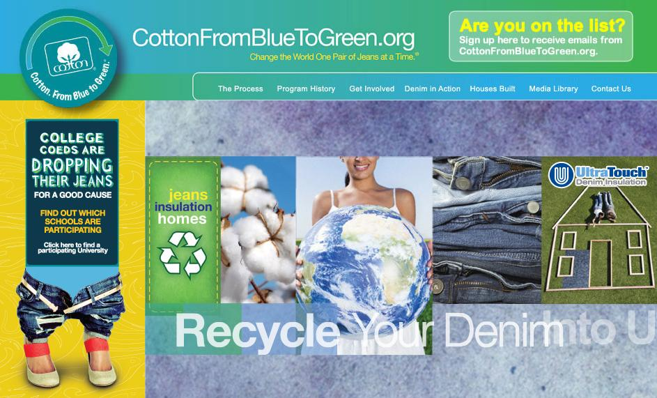 recycling denim for home insulation