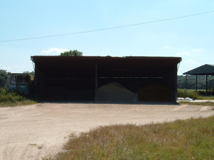 dairy feed barn