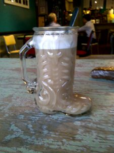 chai in a cowboy boot
