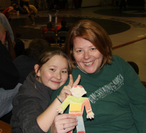 Flat Stanley with rabbit ears
