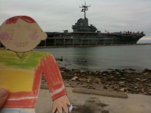Flat Stanley at the USS Lexington