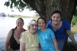 three generations of my family on historic mother