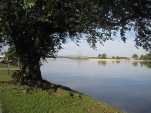 Riverside park in Memphis after the flood