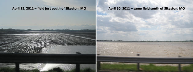 two weeks of rain - example of flooding