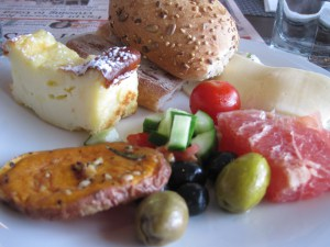 Mediterranean breakfast in Israel