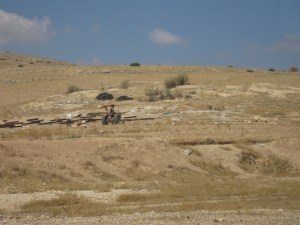 the West Bank desert