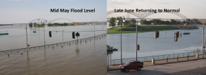 flooding in downtown Memphis