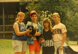 me, Drew, Debbie & Gordon back in the day