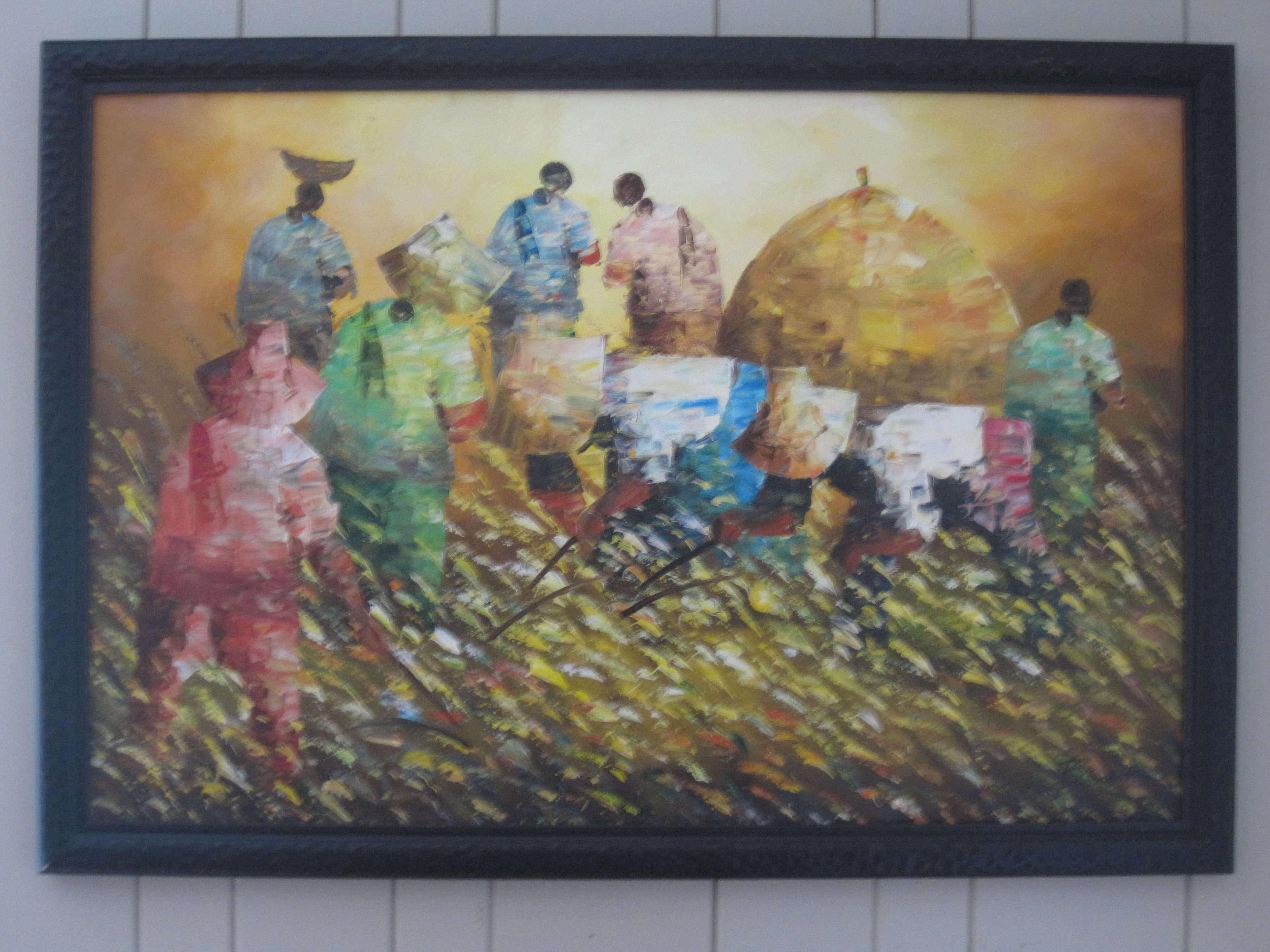 Rice harvest original painting I bought in the Philippines | JP ... for Farm Philippines Painting  270bof