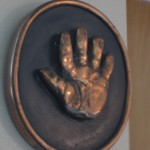 The handprints mom made when I was a baby