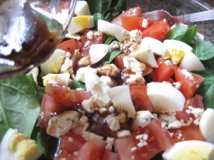 spinach, tomatoes, egg, feta, balsamic & olive oil
