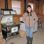 the stove for meals made in the sugar shack