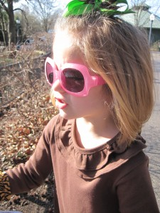 Miss K in her shades
