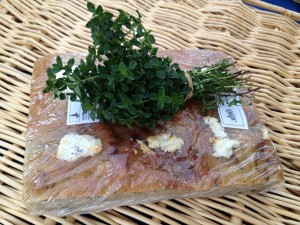 foccacia with goat cheese & thyme
