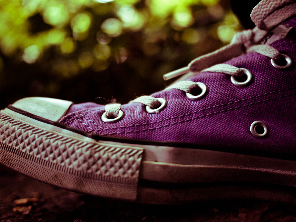 Jeff Pulver brings smiles with purple Converse like these