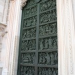 door at Milan's Cathedral Duomo