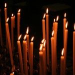 prayer candles closeup