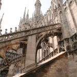 on the roof of Milan's Duomo