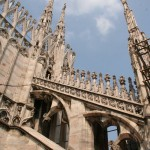spires on cathedral in Italy