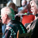 Doc Watson from backstage at MerleFest