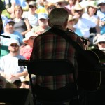 Doc in front of a MerleFest crowd