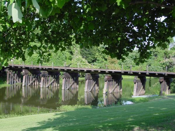 Railroad bridge in Scott Mississippi