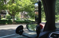video camera mounted to record driving