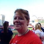 lovin' being out on the grass at Cardinals stadium