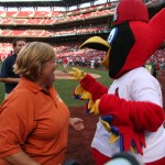 Fredbird & April have a special relationship :)