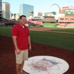 Brad checking out the batters box