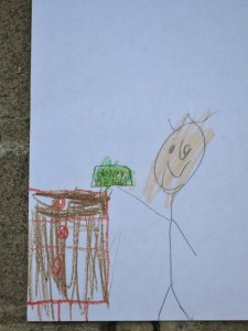 kid's drawing cotton money