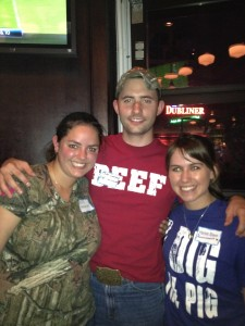Ryan Goodman @AR_Ranchhand in Beef & Marian Black digs the pig