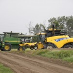 Dispite having 4 combines in it, the rain moved in before harvest was finished Matt Raley Central Louisiana