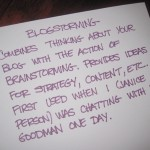 blogstorming definition 2