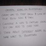 general ideas on blogstorming (2)