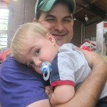 Matt & his youngest son when the family visited the fair
