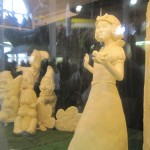 Snow White and the Seven Dwarfs sculpted in butter for the Iowa State Fair