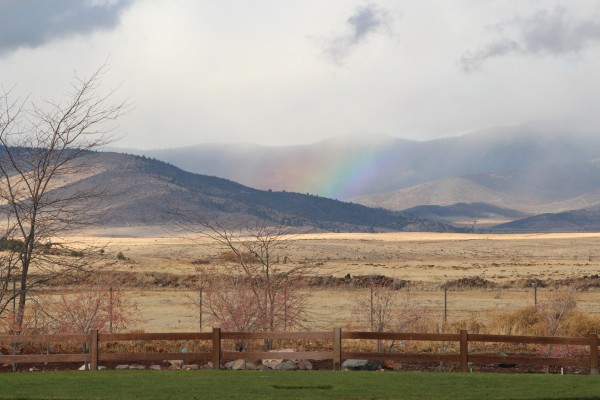 Rainbow in the Cascades Mountains