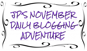 November blogging adventure