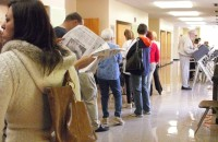voting -- line for the polls