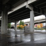 Portland has a lot of bridges & overpasses since the city is divided by a river