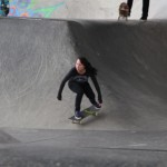 one of the girls I saw who could skateboard well