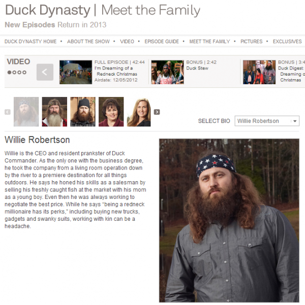 Damn! I Just Realized I May Have Channeled Willie from Duck Dynasty