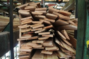 lumber sorted by size