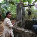Geeta's family has a well, complete with a small pump now