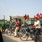 farm machinery doubles as community transportation