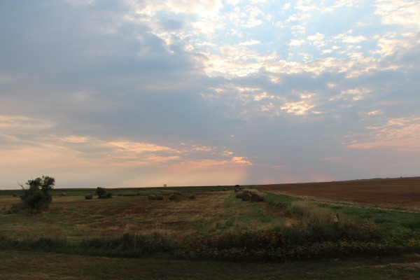 sunset over the prairie