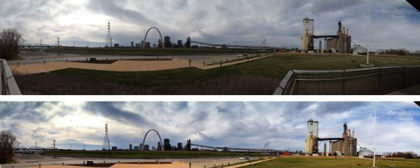St. Louis skyline panorama